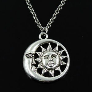 Sun Moon Necklace Jewelry
